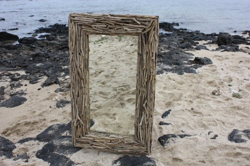 "Tikimaster Driftwood Mirror 40"" X 24"" - Coastal Living | #lis31005c"