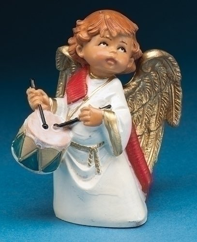 "5"" Anah, Little Drummer Angel Event Figure, Fontanini 65132"