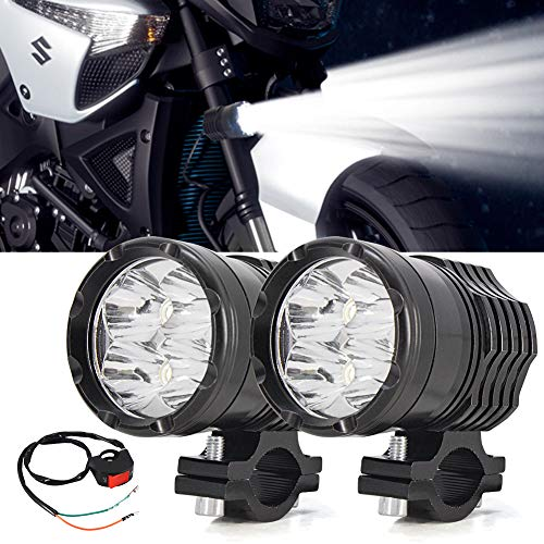 Motorcycle Driving Lights,Ourbest Spotlights Fog Auxiliary Lights Cree 12V 24V 40W Front Work Universal Headlight For E-Bike Truck Jeep Car Boat With Switch (Auxiliary Light Mini Strobe)