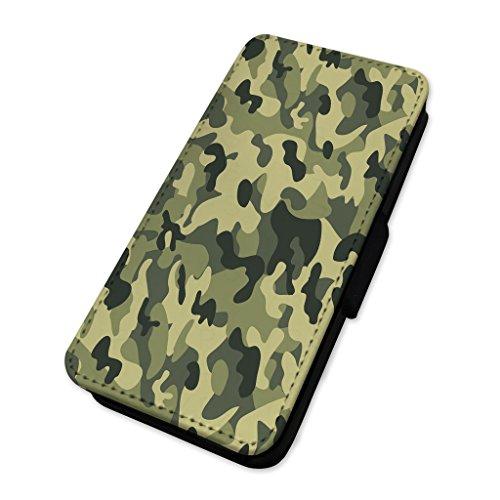 Army camo–camouflage–Custodia ad aletta in pelle cover Apple Iphone 5/5s/SE