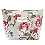 Thenlian Vintage Floral Printed Bag Women Make Up Bags Travel Bag Make Up Pouch Coin Bag (A)