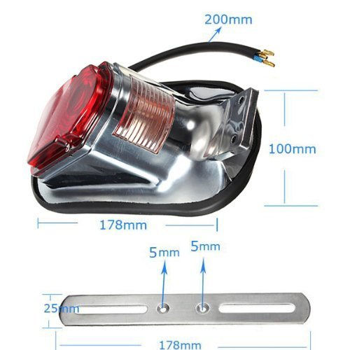 Chopper ATV Scooter Motorcyle Candance Motorcycle Brake Tail Light Lamp Universal Fit For bikes// Suzuki motorcycle //Curiser // Touring and custom applications Fit most of the Bike license plate holder features a dual high intensity LED tailli Curiser
