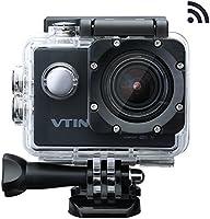 Vtin Eypro 1 Cámara Deportiva,1080p 12MP WIFI Impermeable,Sumergible hasta 30m con Multiples Accesorios