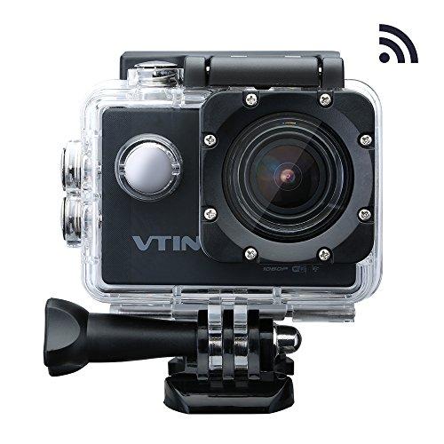 VICTSING Eypro1 Cámara Acuática Sumergible Deportiva WIFI,1080P Vídeo y 12MP Imagen UHD, 170°Ángulo de Visión, Completos Accesorios de Cámara Acción y 1 Batería Repuesto