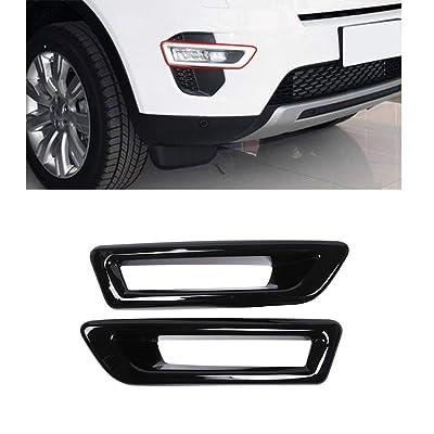 Black ABS Front Fog Light Lamp Cover Trim 2pcs For Land Rover Range Rover Sport 2014-2020 (Black): Automotive