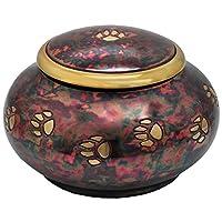 Memorial Gallery Pets MG-1005 Brass Cremation Pet Urn, Raku, Small
