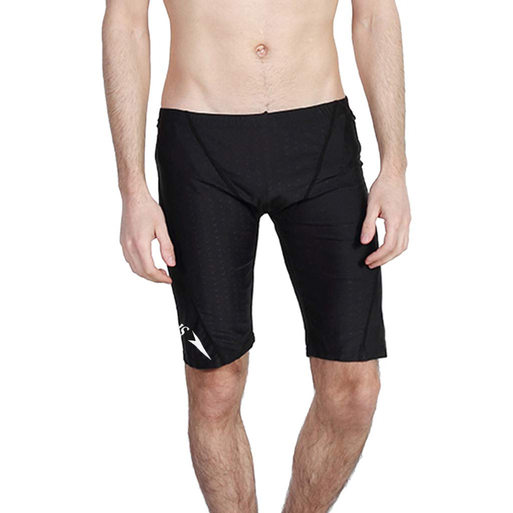 TIFENNY Men's Brand Stripe Sexy Nylon Breathable Bulge Briefs Quick Drying Swimming Trunks Solid Soft Shorts Pants Black