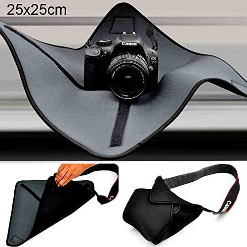 25 x 25cm WEIHONG Size WEIHONG Bag Shockproof Neoprene Bag Magic Wrap Blanket for Canon//Nikon//for Sony Camera Lens
