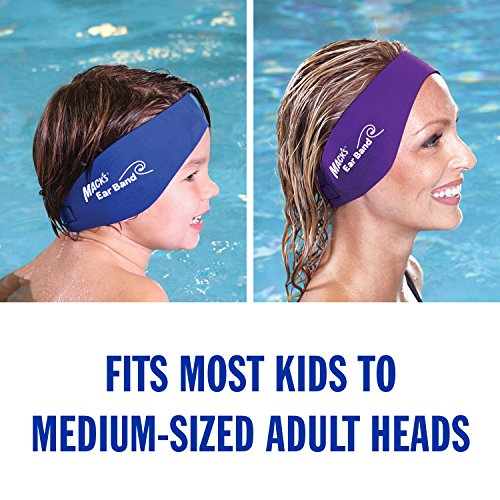 Mack's Ear Band Swimming Headband - Best Swimmer's Headband - Doctor Recommended to Keep Water Out and Earplugs in