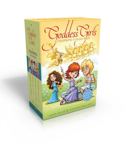 The Goddess Girls Charming Collection Books 9-12 (Charm Bracelet Included!): Pandora the Curious; Pheme the Gossip; Persephone the Daring; Cassandra the Lucky (Bracelet Goddess Green)