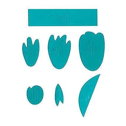 Fiskars 127650 1001 Lia Griffith Designer Peony Flower Template Teal Green