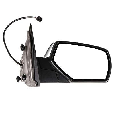 ECCPP Passenger Side Mirrors, Power Heated Right Rear View Mirrors Chrome fit 2014 2015 2016 2020 Chevrolet Silverado 1500 GMC Sierra 1500: Automotive