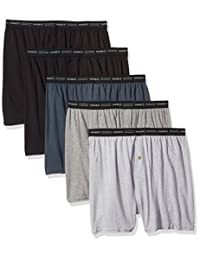 Hanes Red Label Men's 5-Pack Exposed-Waistband Knit Boxers