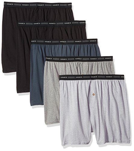 Hanes Men's 5-Pack Exposed Waistband Knit