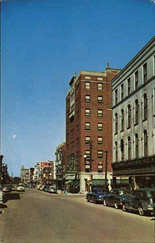 View of Main Street and Hotel Freeport Freeport, Illinois Original Vintage - Freeport Main