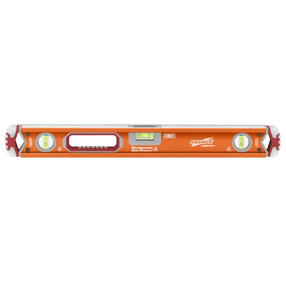 Swanson SVB24M 24-Inch Savage Magnetic Professional Box Beam Level with Gel End Cap