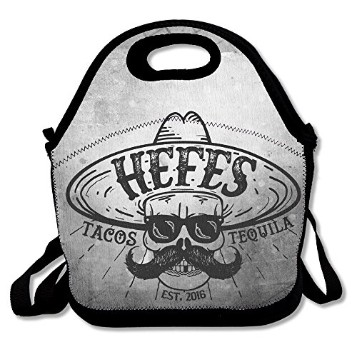 [Bakeiy Tacos & Tequila Logo Lunch Tote Bag Lunch Box Neoprene Tote For Kids And Adults For Travel And Picnic] (Dance Costumes Atlanta)
