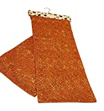 Thro by Marlo Lorenz Autumn Table Runner (Burnt Orange All Over Lace) 14' x 72'