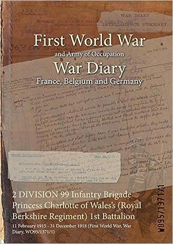2 Division 99 Infantry Brigade Princess Charlotte Of Waless Royal Berkshire Regiment 1st Battalion 11 February 1915