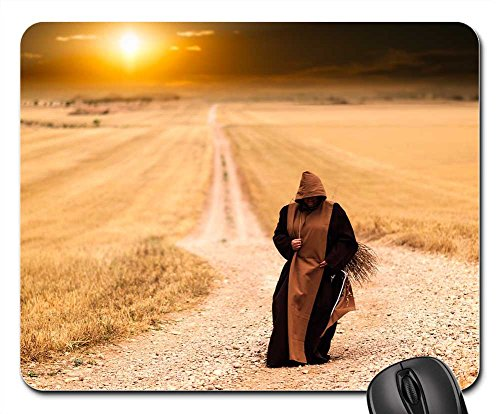 Mouse Pads - Monks Path Sunset Landscape Afternoon