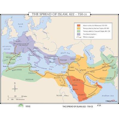 World History Wall Maps - Spread of Islam