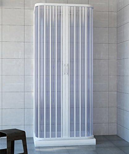 Box ducha 3 lados, tamaño cm.70 x 70 x 70 (riducibile de cm.65 A cm).70), Fuelle Color Blanco de acrílico: Amazon.es: Bricolaje y herramientas