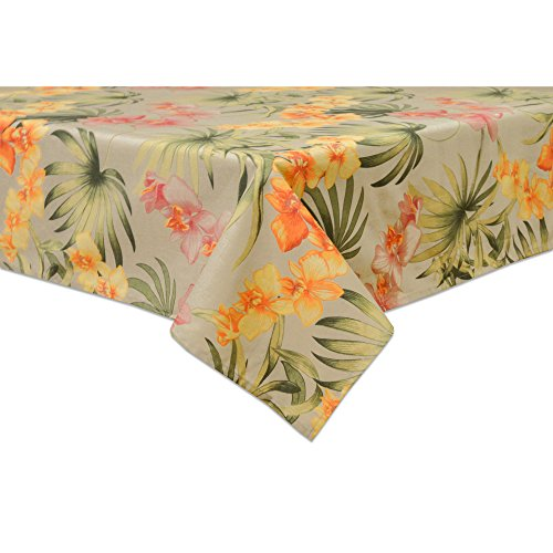 Tommy Bahama Cream - Tommy Bahama African Orchid 60 by 102, Oblong/Rectangle, Linen