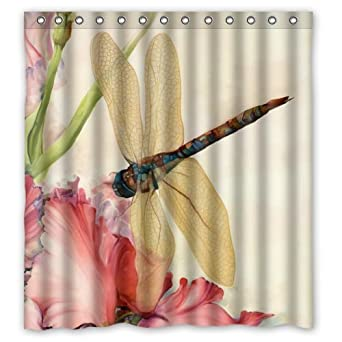 WECE Beautiful Dragonfly Shower Curtain 66quot