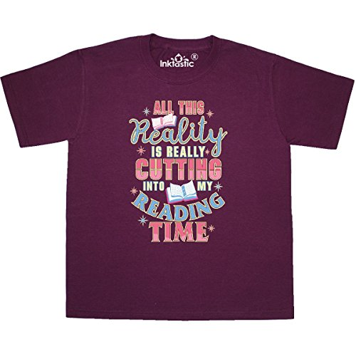 inktastic Bibliophile Book Addict Youth T-Shirt Youth Small (6-8) Maroon 2f9a5