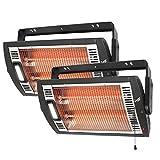 Comfort Zone CZQTV5M Ceiling Mount Quartz Heater ,Black, 1500 Watts 2 Pack