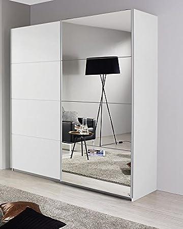 Schwebetürenschrank Weiß Türen B Cm Schrank Kleiderschrank - Schlafzimmer spiegelschrank