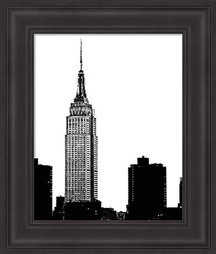 Amazon.com: NYC Skyline I by Jeff Pica Fine Art Print with Wood Box ...