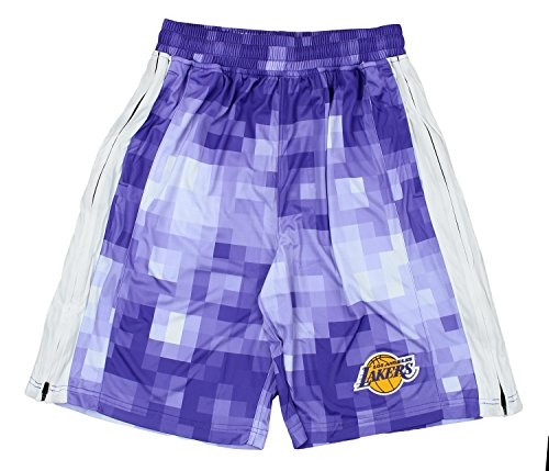 Zipway NBA Men's Pixel Single Layer Athletic Shorts, Team Options (Los Angeles Lakers, Large)