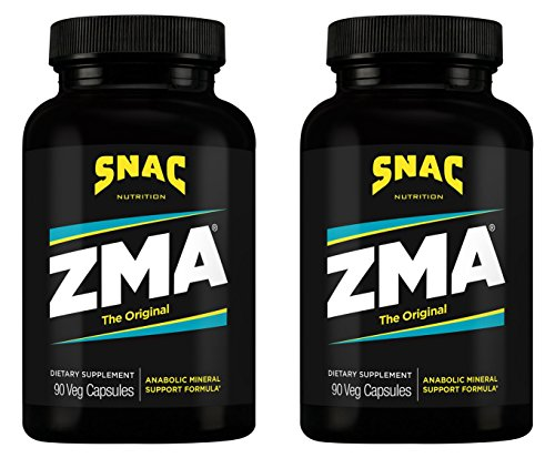 SNAC ZMA The Original Recovery and Sleep Enhancement Formula, 180 Capsules (2 Pack of 90 Count) - Zma 180 Capsules