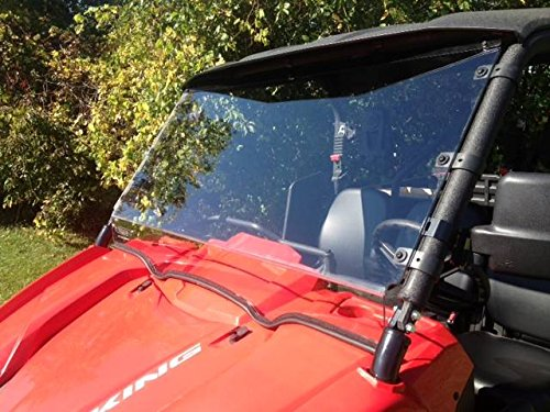 king VI Hard Coat Front Full Windshield by EMP 12353 ()