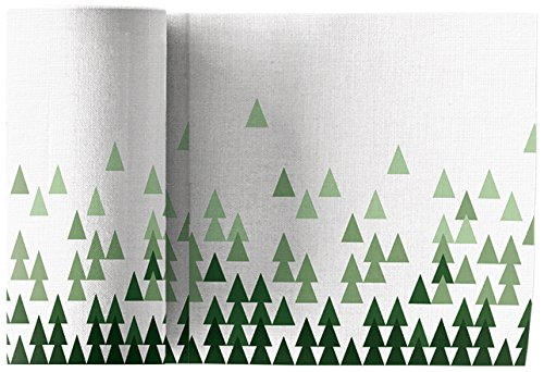 Linen Printed Cocktail Napkin -  4.5'' x 4.5''in. 50 units per roll-  X-Mas Tree by MYdrap