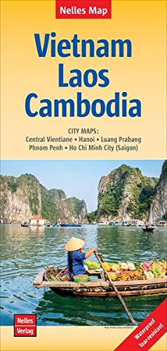 Veitnam Laos Cambodia MAP (2016) (English, French and German Edition)...