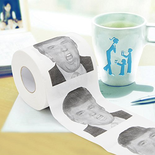 Freehawk® Trump Novelty Toilet Paper / 2016 Election ! / Stocking Stuffer / Perfect for Democrats or Republicans / Perfect Gift / Hilarious! Funny! Gag! Photo #4