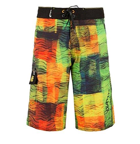 BININBOX®Herren Shorts Badeshorts Badehose Surfshorts beach pants Surfwear schnelltrocknend Beintasche bunt verstellbarer Bund