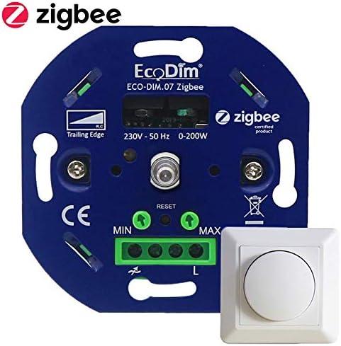 Zigbee LED Dimmer Echo, Echo Dot Smart dimmer Phasenabschnitt Kompatibel mit  Alexa Ecodim /& Google Home 230V