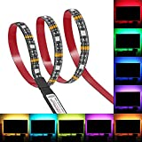 Bias Lighting, Relohas TV Backlight for 45~70 inches HDTV,LED Strip Lights with FR Remote, RGB LED Strip Home Multi Color RGB LED TV Lighting for Flat Screen TV, PC, Neon Sign Decoration (3M)