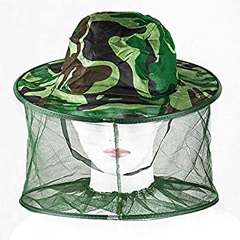 Unisex Mosquito Bee Bug Insect Mesh Head Face Protect Hot Sale Net Mask Hat F5Q9
