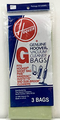 Type G Hoover Vacuum Cleaner Replacement Bag (3 Bags) - Hoover Electric Brooms