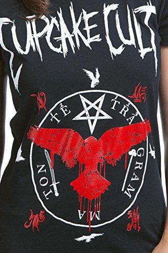 Cupcake Cult Black Crows Camiseta Mujer Negro S