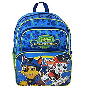 "Paw Patrol 16"" Cargo Backpack Bag & Water Bottle Snack Container - 2 Piece Set"