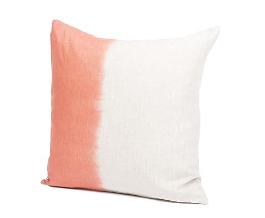Harmony – Cojín – Tie and Dye– Natural/mandarina – 45 x 45 ...