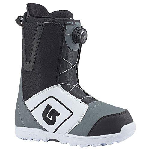 Burton Men's Moto Boa Snowboard Boot, White/Black/Gray, 8 ()