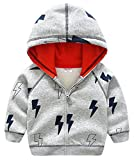 Katoofely Boys Hoodies Coat Cotton Long Sleeve Zipper Up Jacket 2-8T