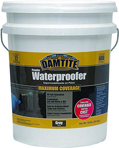 DAMTITE WATERPROOFING 02451 Maximum Coverage Gray Powder Waterproofer 45 lb Gray