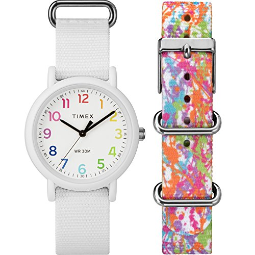 (Timex Unisex TWG018200 Weekender Color Rush White/Splash Box Set)